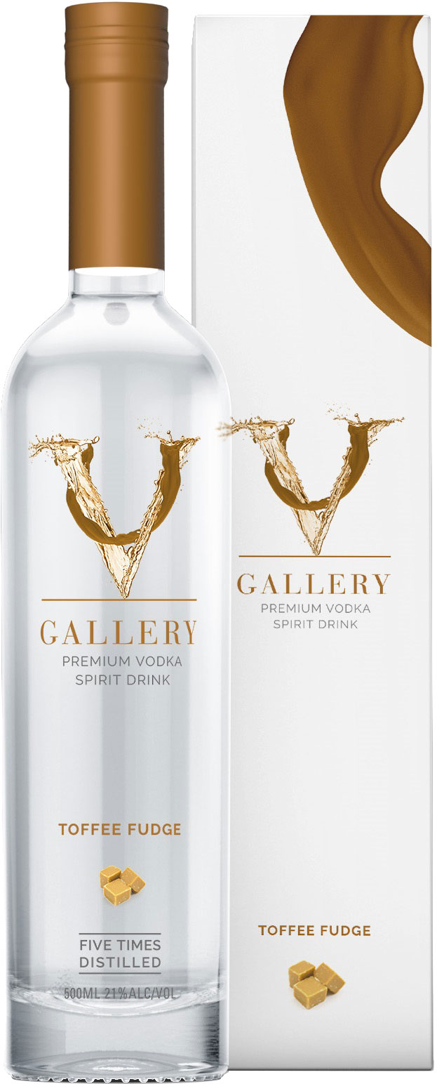 V Gallery  Toffee Fudge Vodka 50cl Bottle