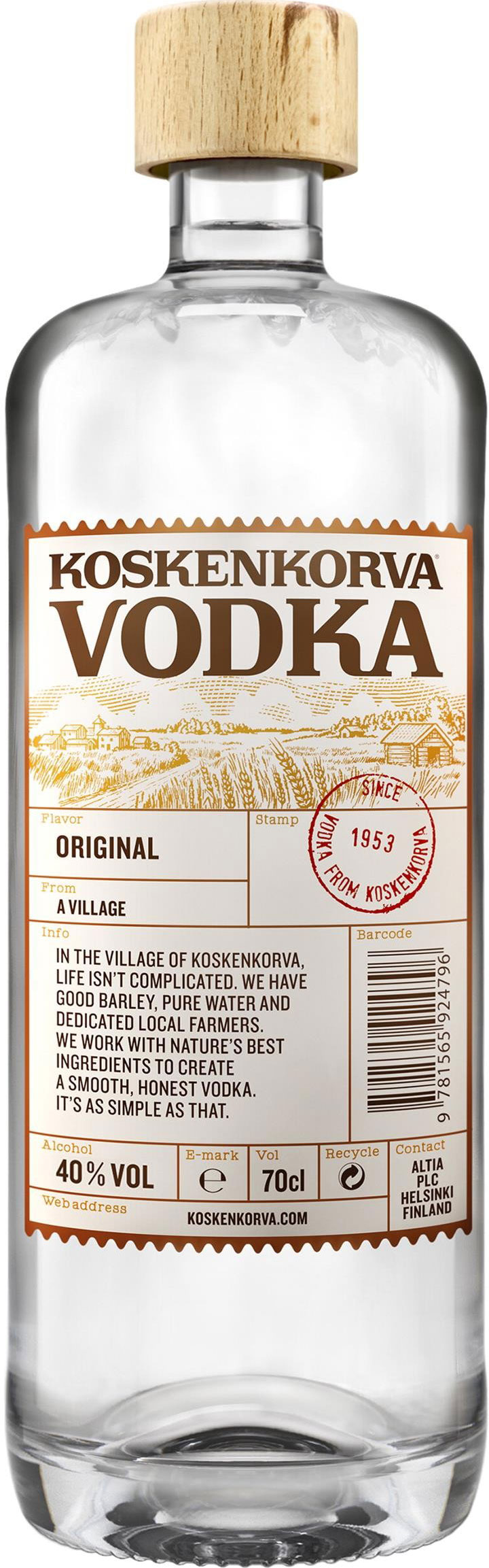 Koskenkorva - Vodka 70cl Bottle