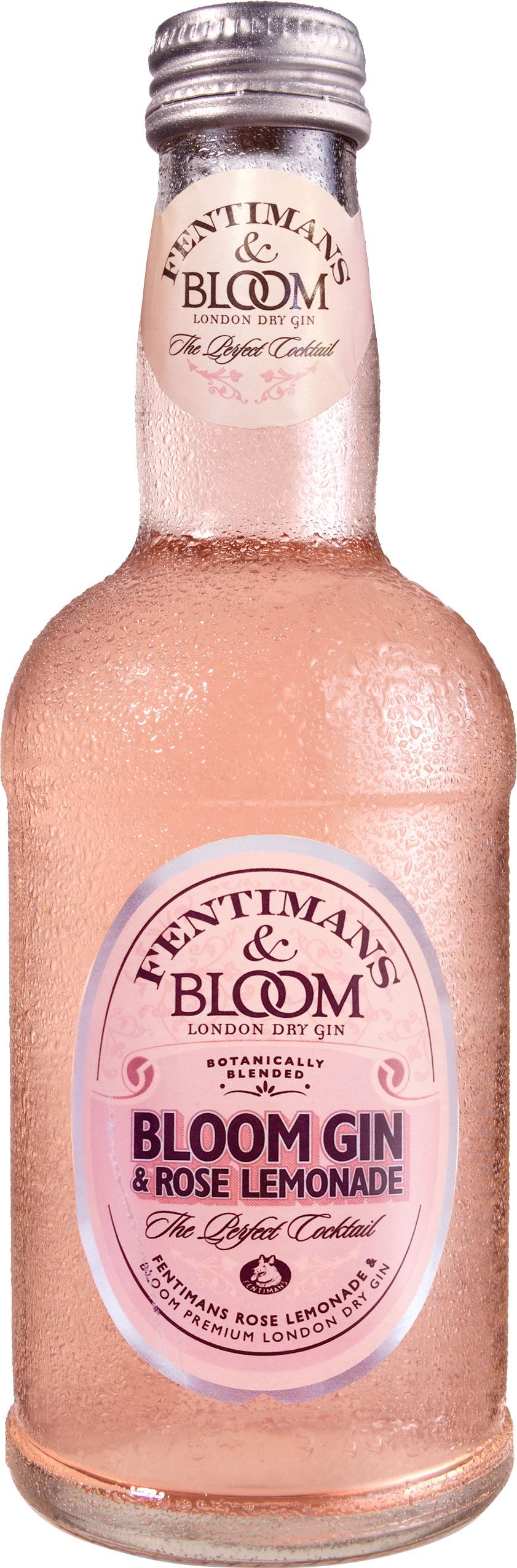 Fentimans & Bloom - Gin And Rose Lemonade 12x 275ml Bottles