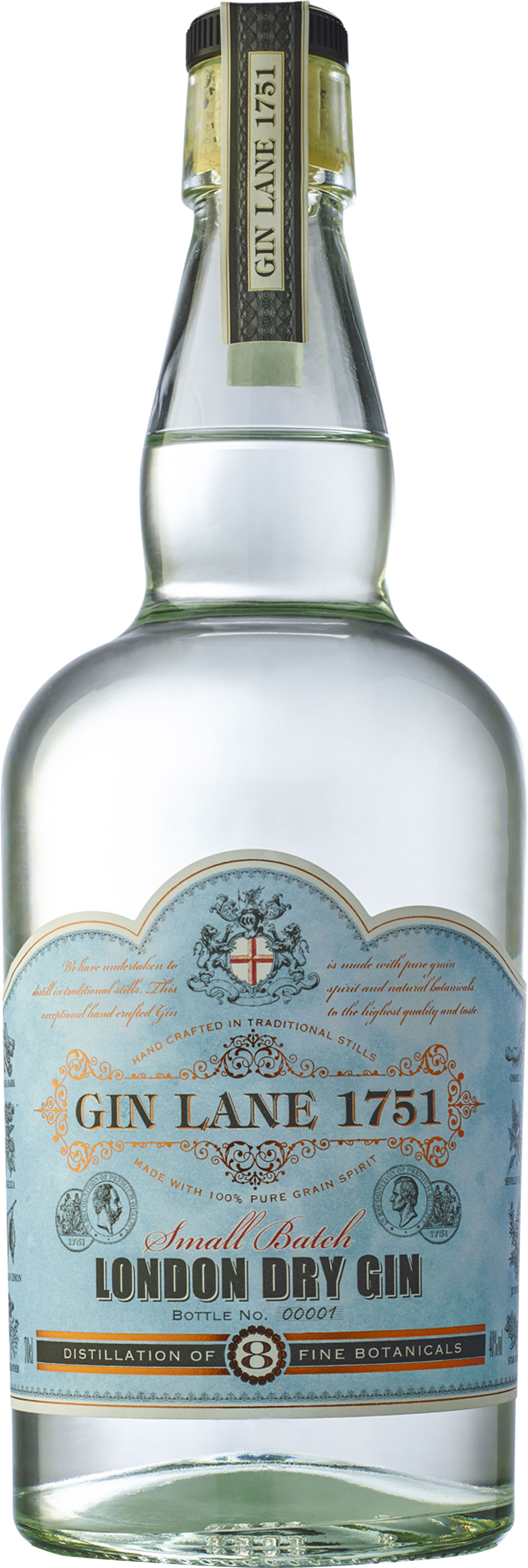Gin Lane 1751 - London Dry Gin 70cl Bottle
