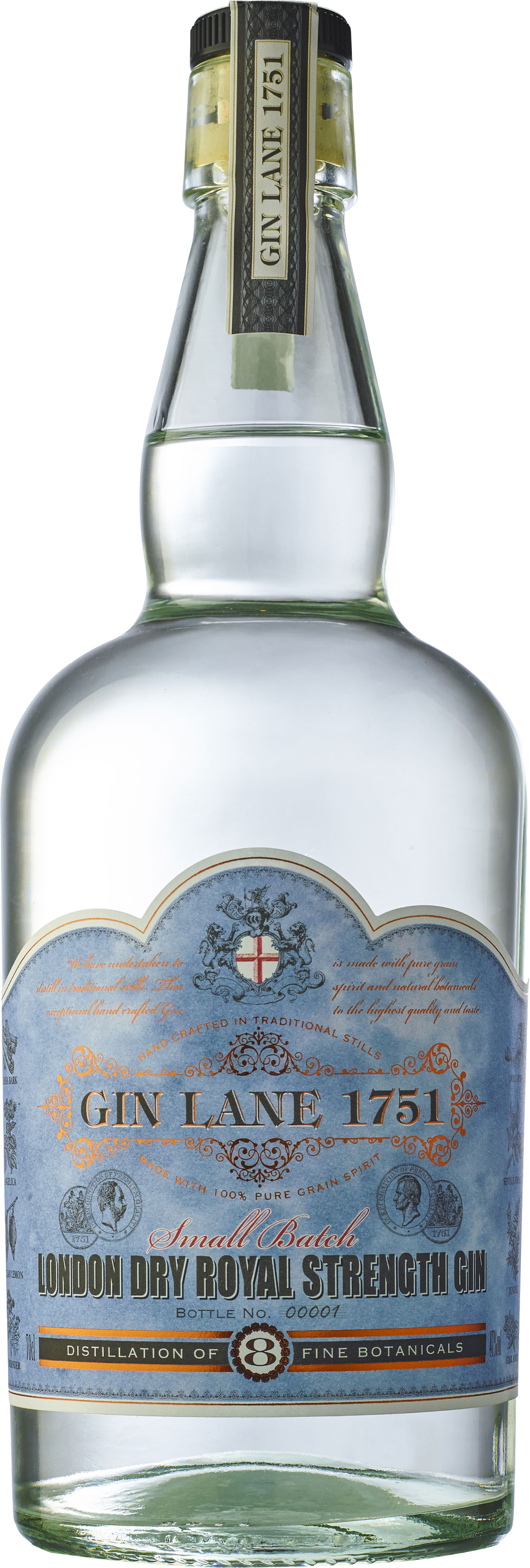 Gin Lane 1751 - London Dry Royal Strength Gin 70cl Bottle