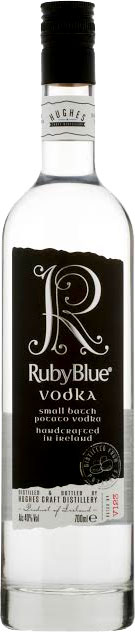 RubyBlue  Small Batch Irish Vodka 70cl Bottle