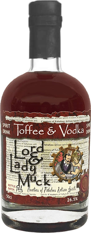 Lord & Lady Muck  Toffee Vodka 50cl Bottle
