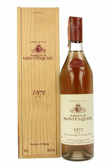 Marquis de Montesquiou Armagnac 1971 70cl Bottle
