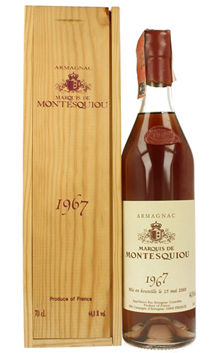 Marquis de Montesquiou Armagnac 1967 70cl Bottle