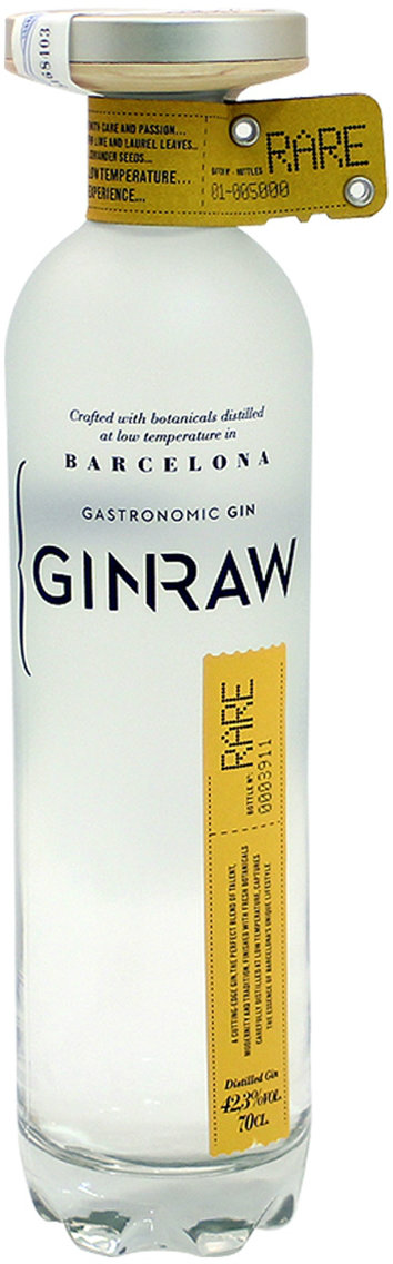 Ginraw - Gastronomic Gin 70cl Bottle