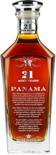Rum Nation  Panama 21 Year Old 70cl Bottle
