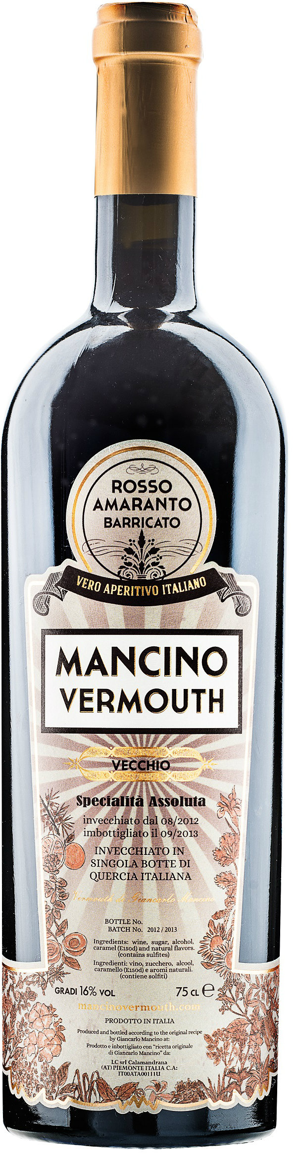 Mancino Vermouth - Vecchio 75cl Bottle