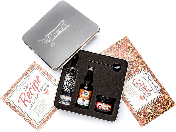 Tipplesworth  Dark Chocolate Martini  Mini Cocktail Kit Gift Set