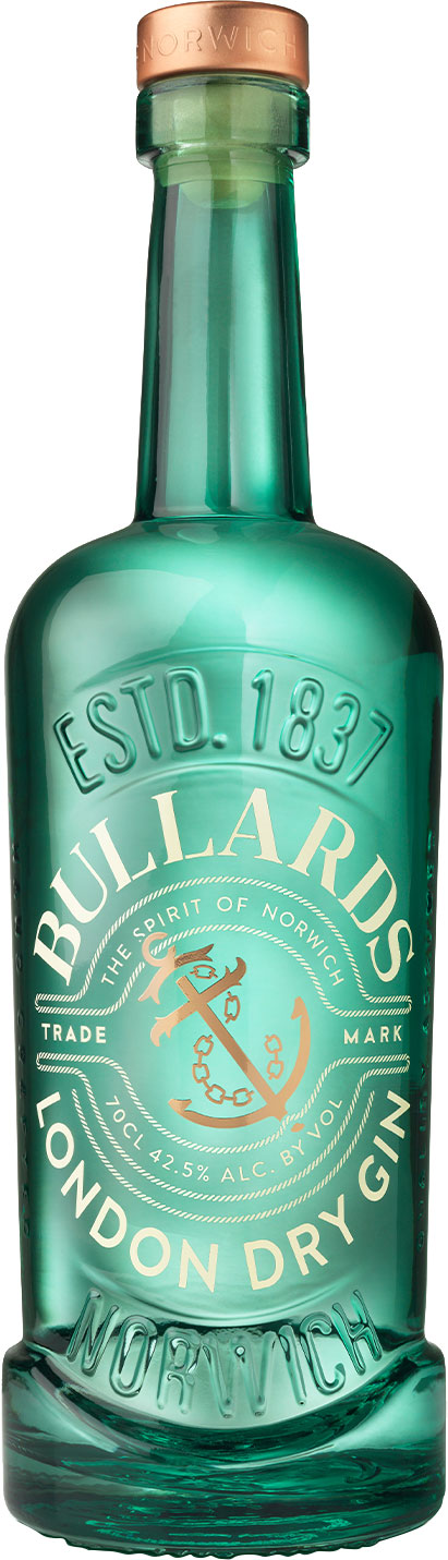 Bullards Norwich - Dry Gin 70cl Bottle