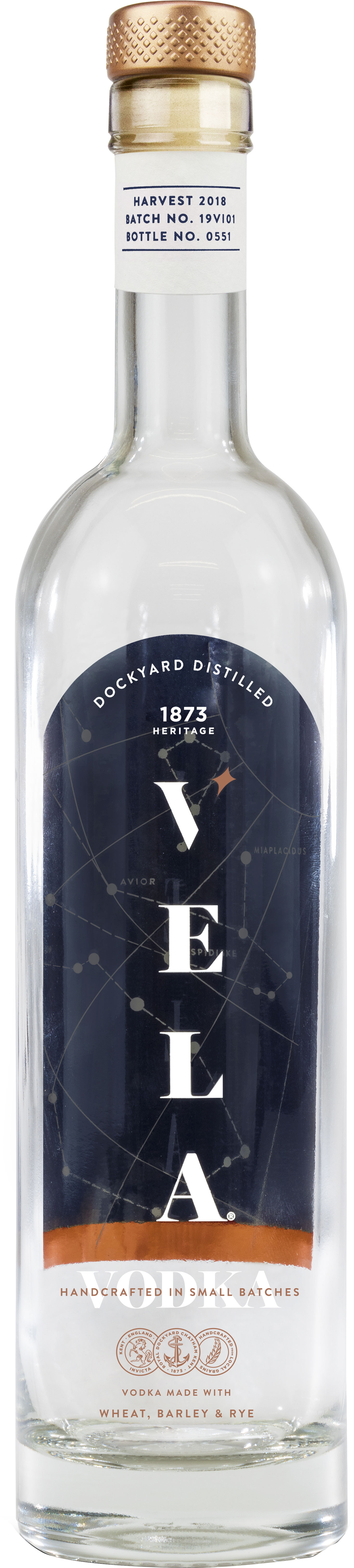 Dockyard - Vela Vodka 50cl Bottle