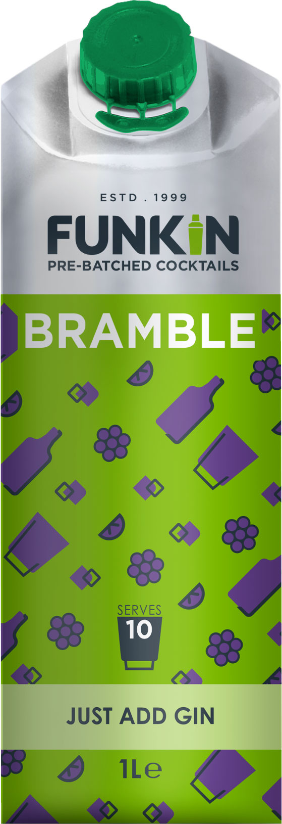 Funkin Cocktail Mixer - Bramble 1 Litre Carton