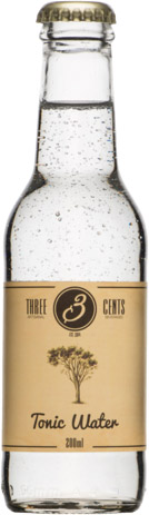 Three Cents - Tonic Water 24x 200ml Bottles