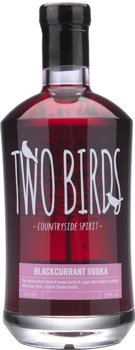 Two Birds - Blackcurrant And English Vodka 70cl Bottle