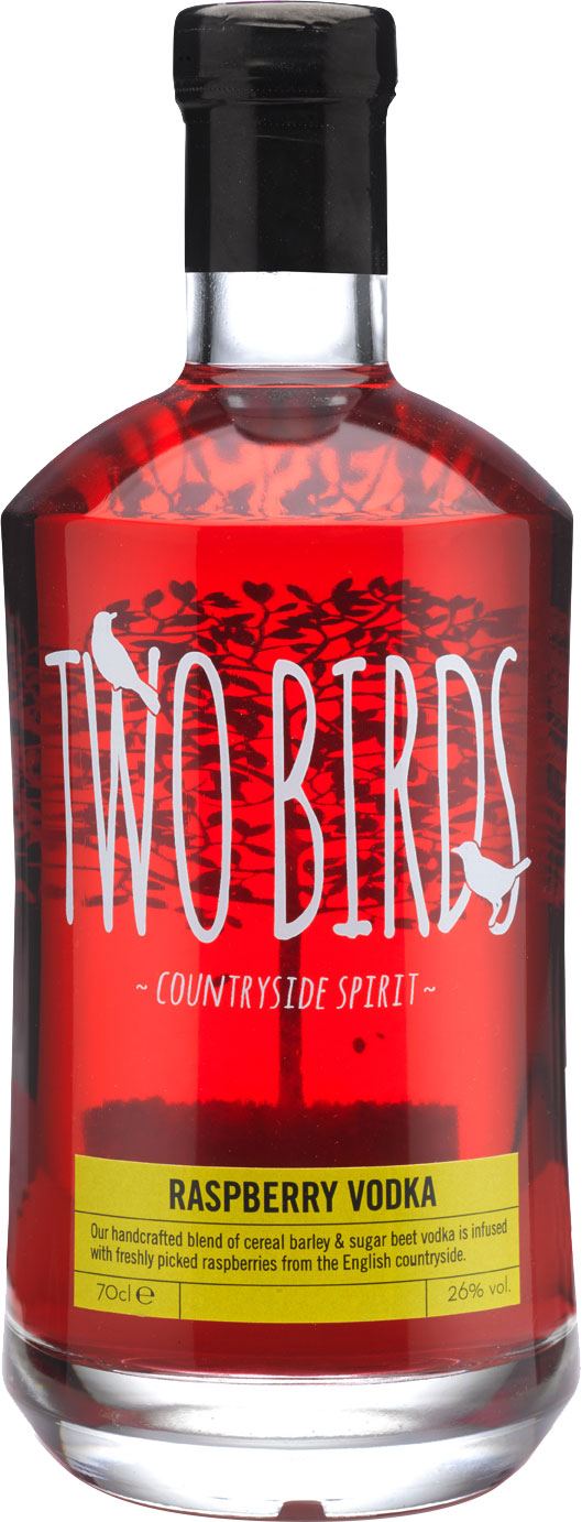 Two Birds - Raspberry And English Vodka 70cl Bottle