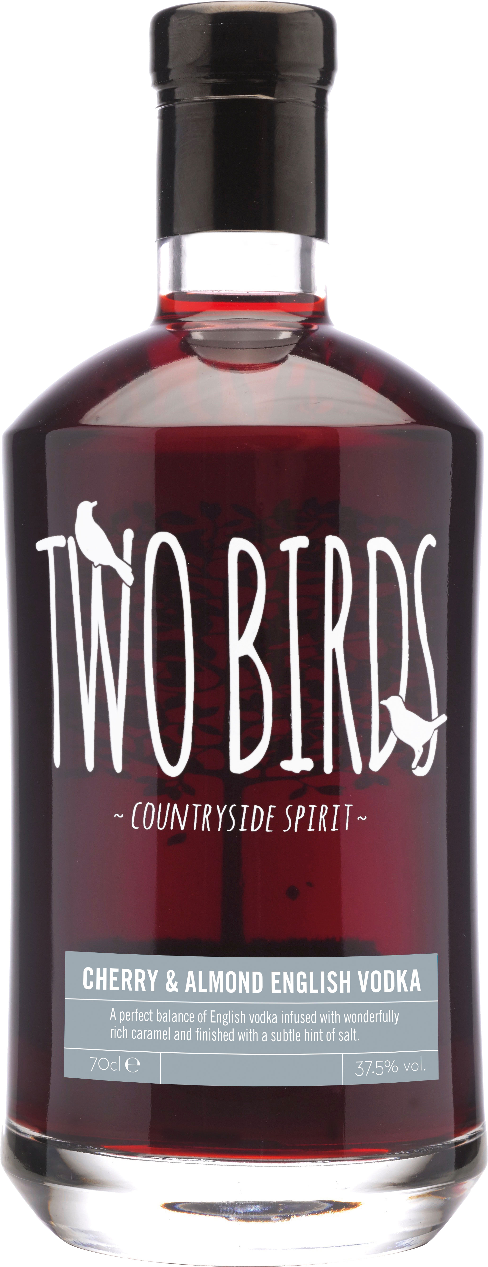 Two Birds - Cherry And Almond Vodka 70cl Bottle