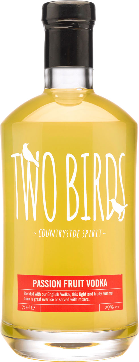 Two Birds - Passion Fruit And English Vodka 70cl Bottle