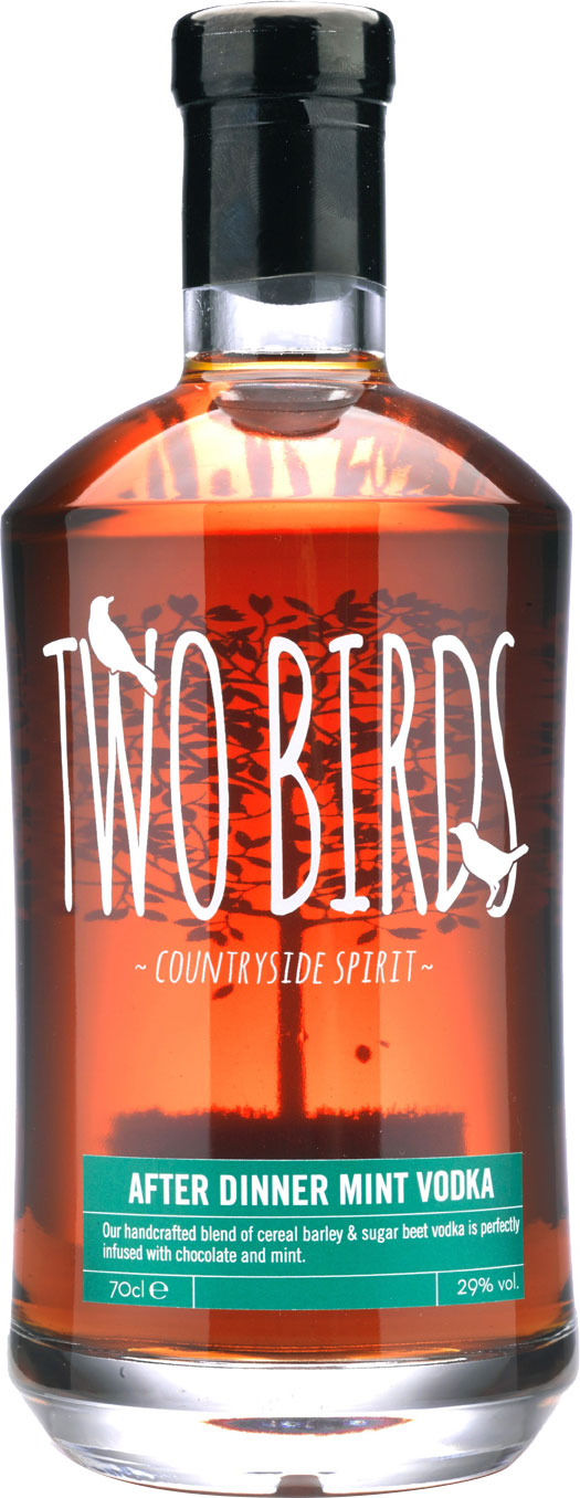 Two Birds - After Dinner Mint And English Vodka 70cl Bottle