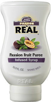 Real - Passion Fruit Puree Infused Syrup 500ml Squeezy Bottle