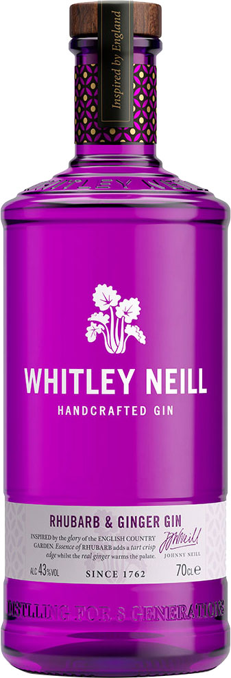 Whitley Neill - Rhubarb And Ginger Gin 70cl Bottle