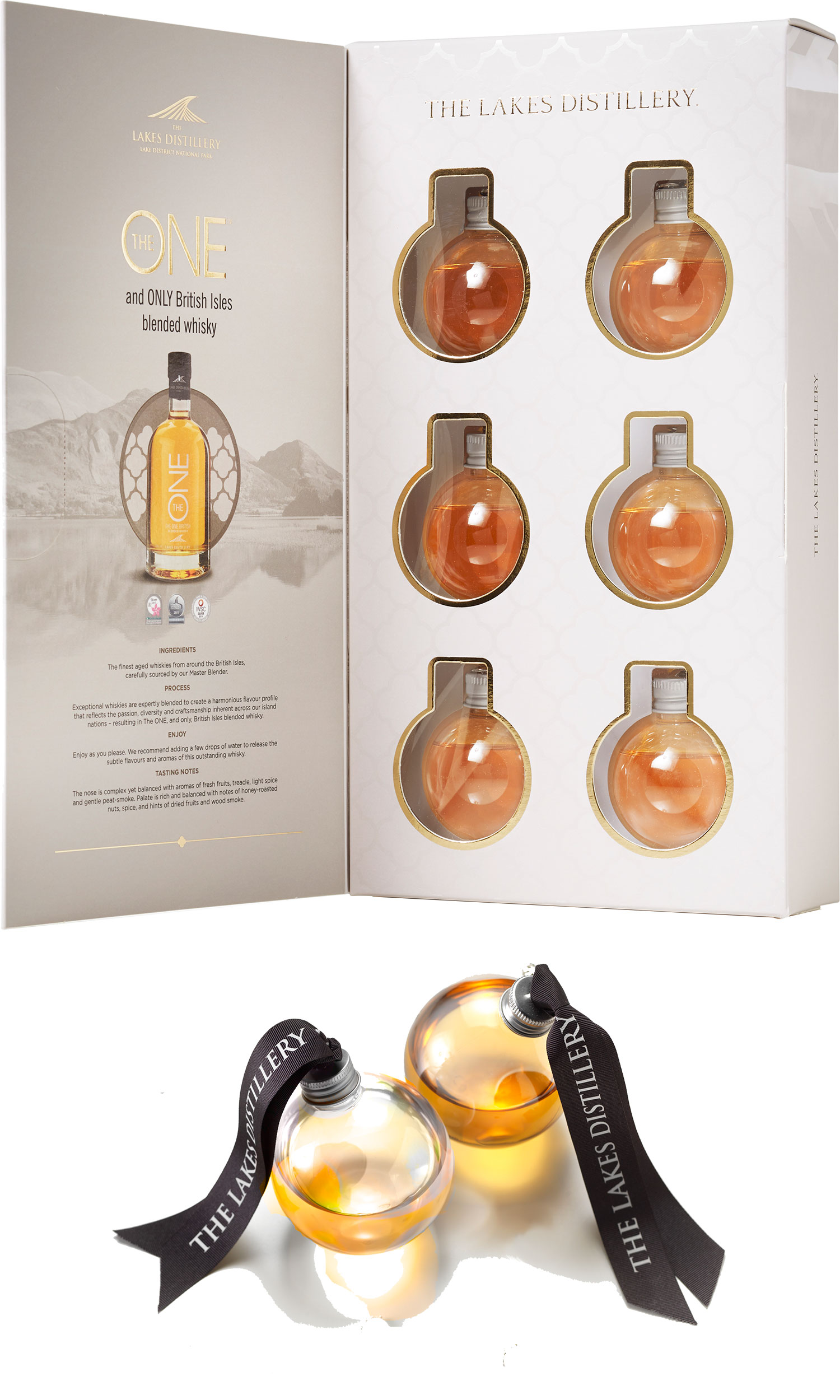 The Spirit Of Christmas - The One Whisky Baubles 6x 5cl Baubles