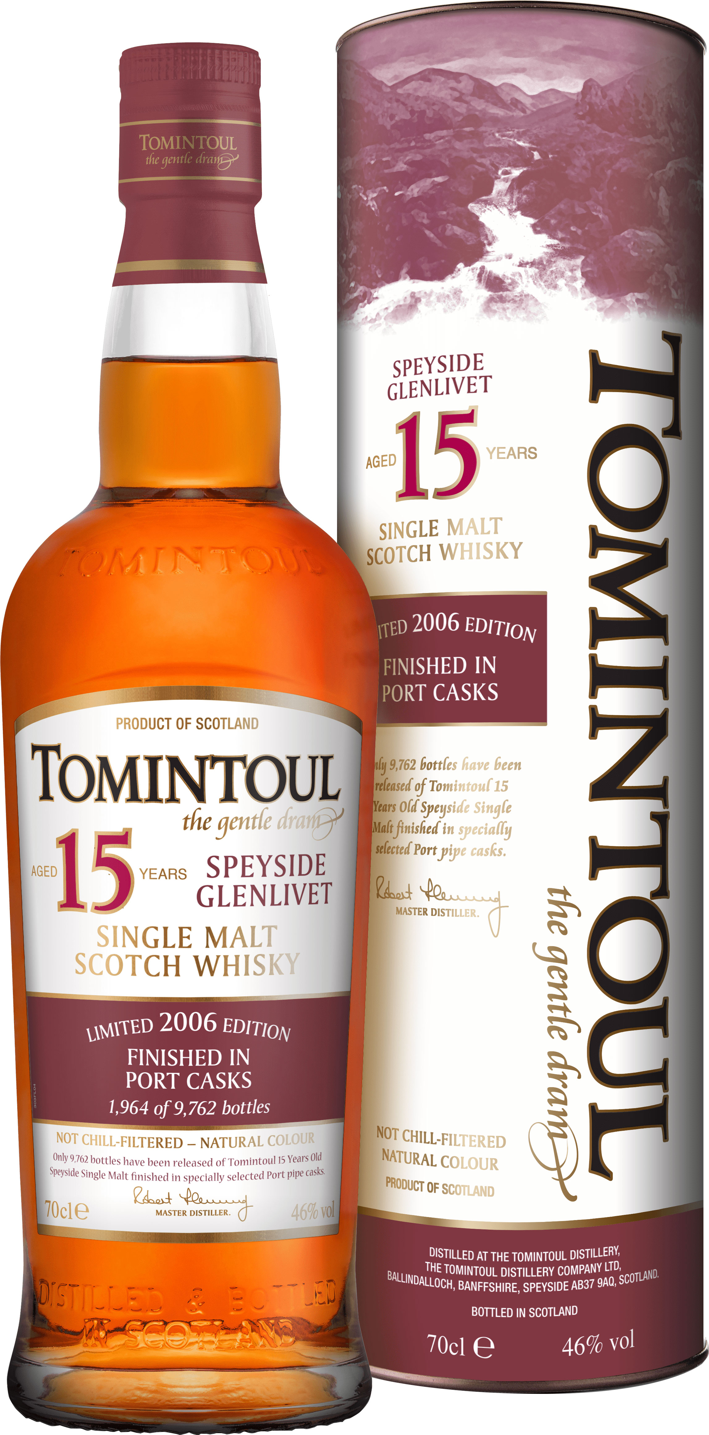 Tomintoul - 15 Year Old Portwood Finish 70cl Bottle