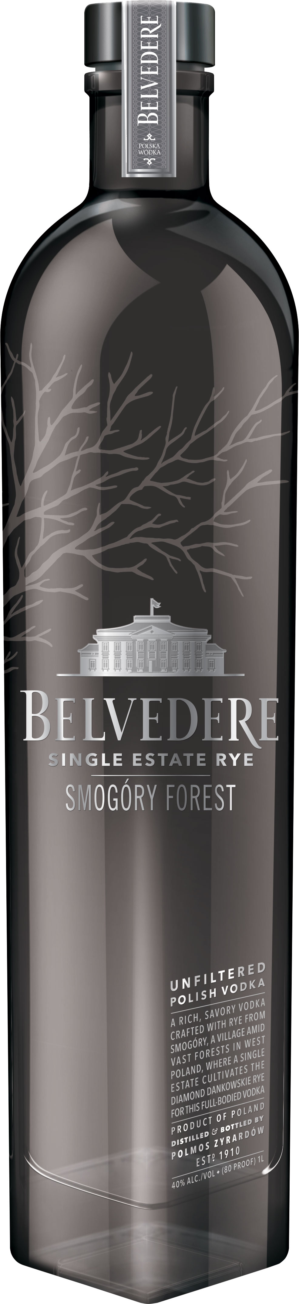 Belvedere Single Estate - Smogory Forest Rye Vodka 70cl Bottle