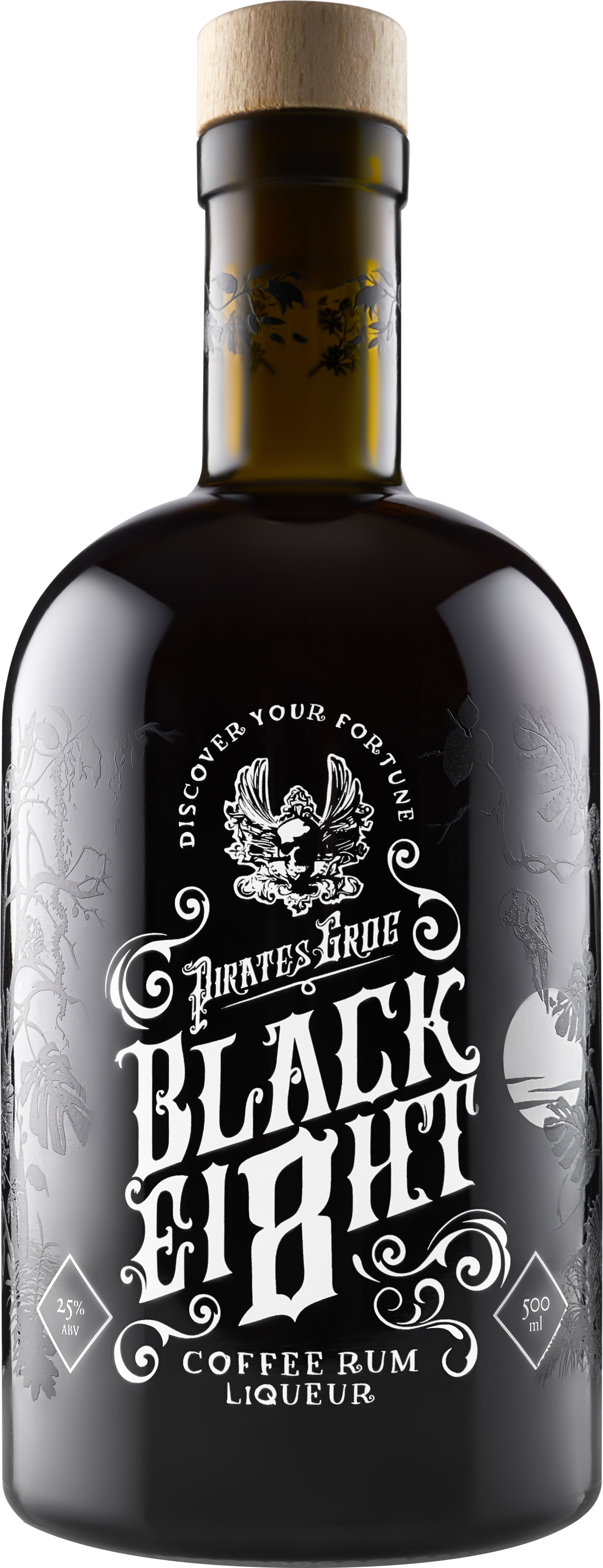 Pirates Grog - Black Ei8ht Coffee Liqueur 50cl Bottle