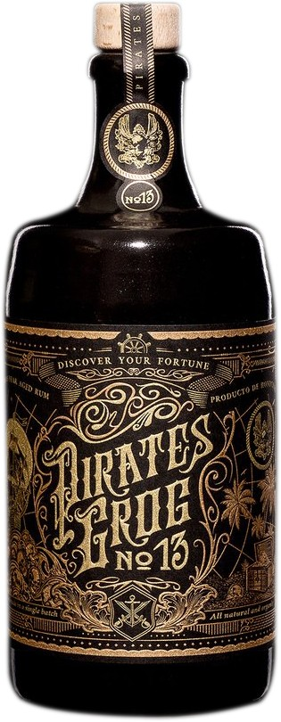 Pirates Grog - No 13 Single Batch 13 Year Aged Rum 70cl Bottle