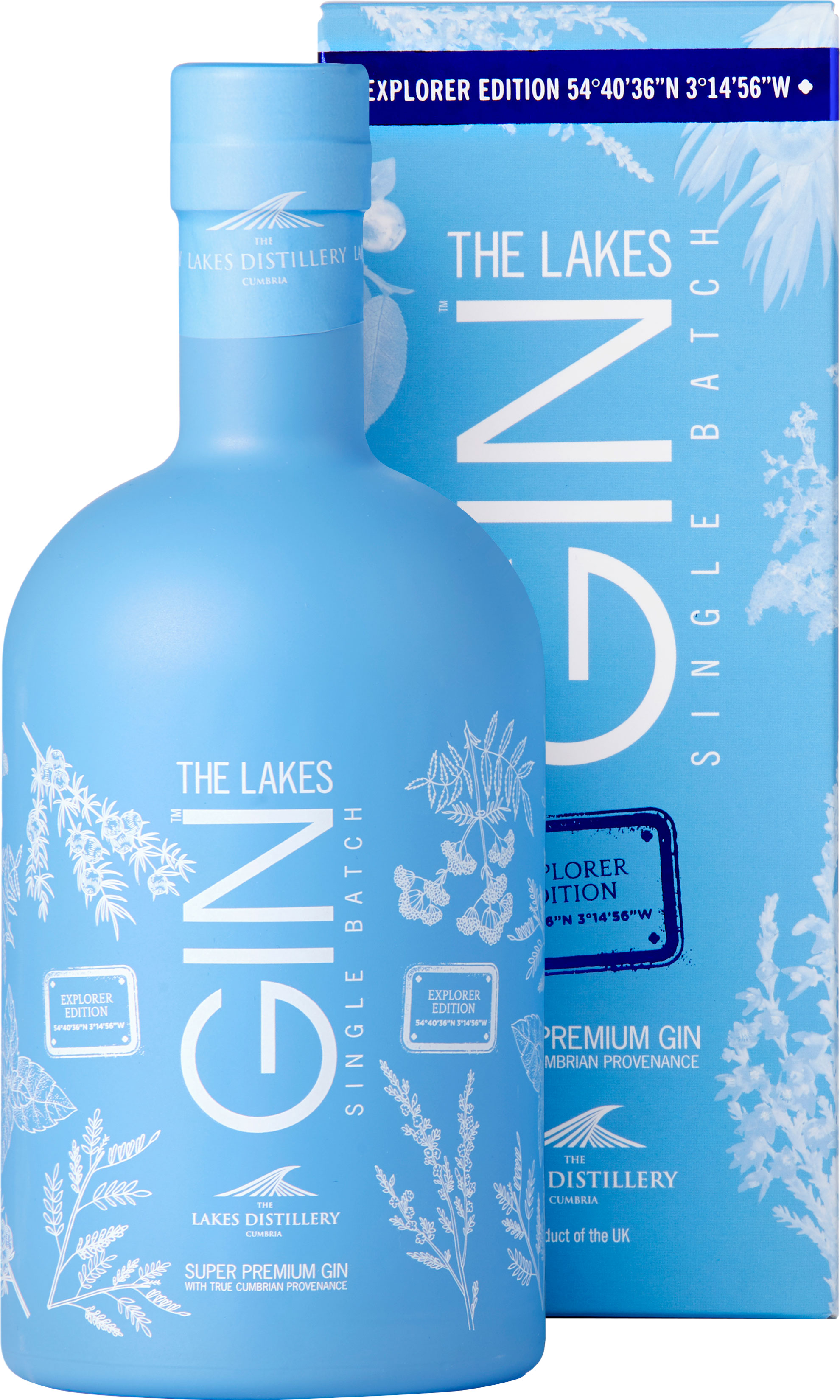 The Lakes - Explorer Gin 70cl Bottle