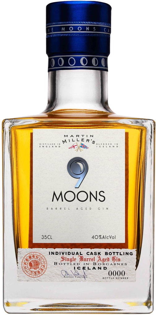 Martin Millers - 9 Moons Bourbon Barrel Aged Gin 35cl Bottle