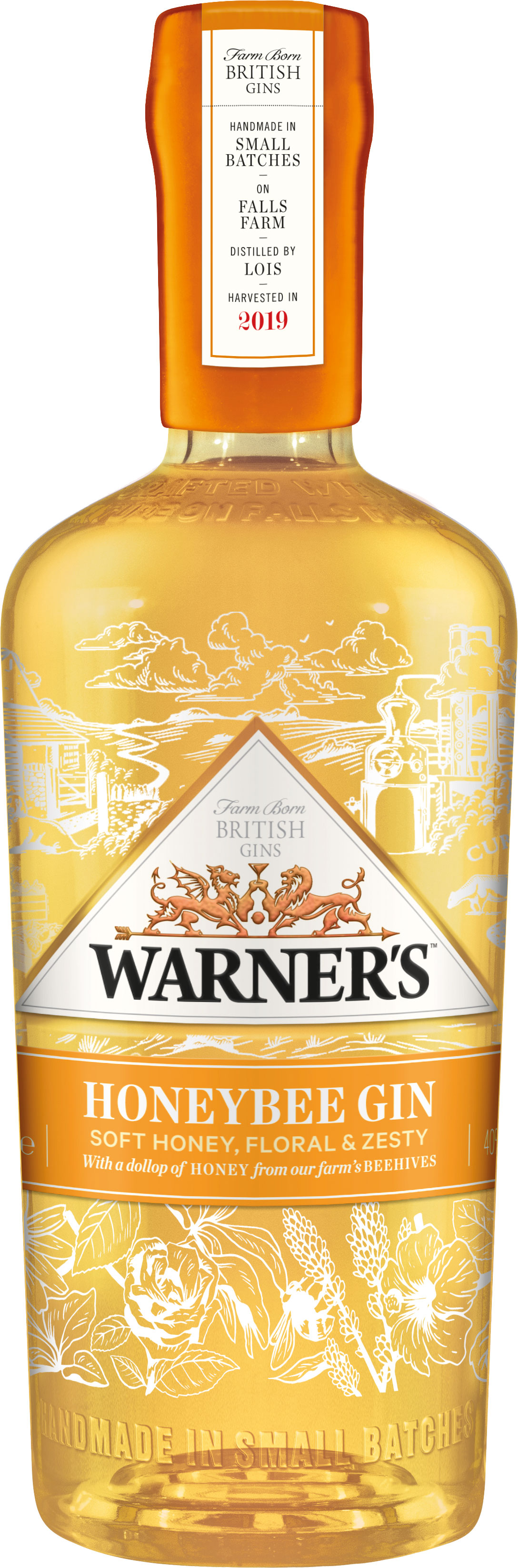 Warner Edwards - Honeybee Gin 70cl Bottle