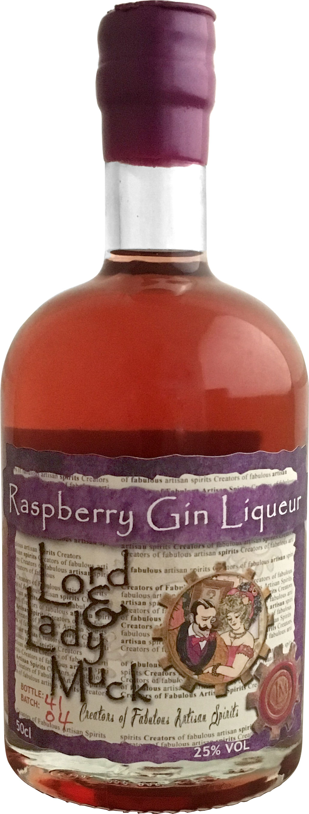 Lord & Lady Muck - Raspberry Gin Liqueur 50cl Bottle