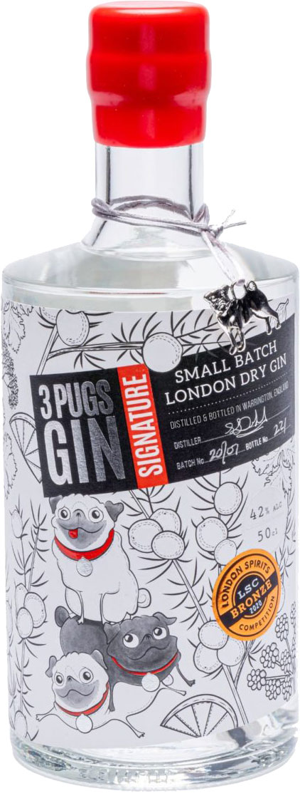 3 Pugs - Signature London Dry Gin 50cl Bottle