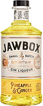 Jawbox - Pineapple & Ginger Gin Liqueur 70cl Bottle
