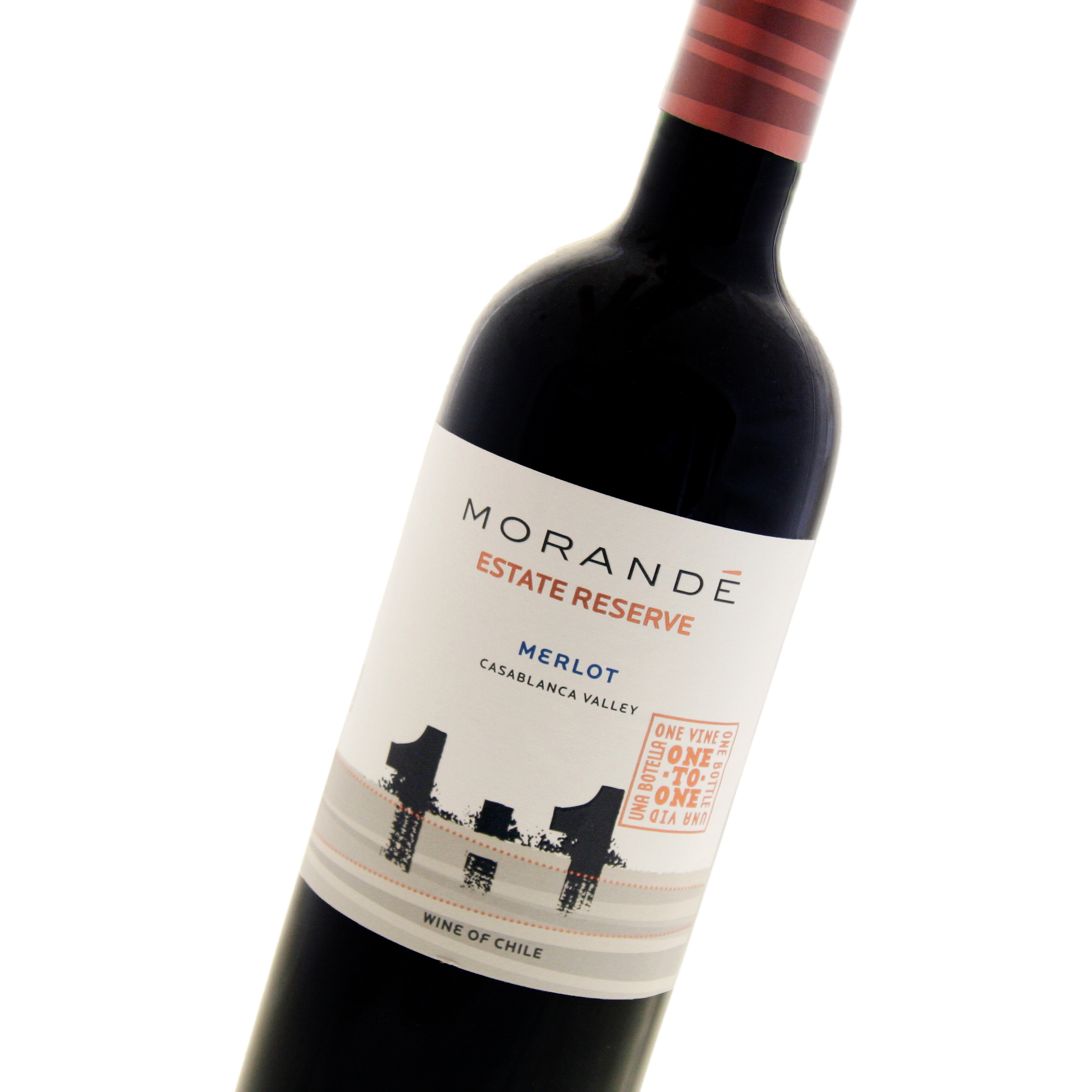 Morande - One To One Merlot Estate Reserve 2018 12x 75cl Bottles