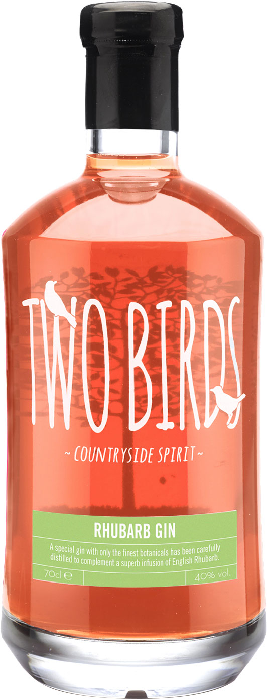 Two Birds - Rhubarb Gin 70cl Bottle