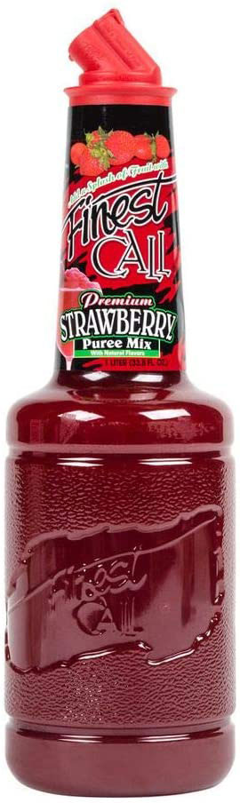 Finest Call - Strawberry Puree 1 Litre Bottle at The Drink Shop