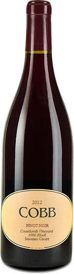 Cobb - Coastlands 1906 Block Pinot Noir 2012 12x 75cl Bottles