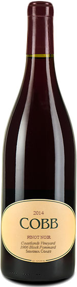 Cobb - Coastlands 1906 Block Pommard Clone Pinot Noir 2014 12x 75cl Bottles