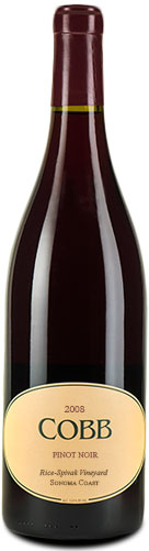 Cobb - Rice-Spivak Pinot Noir 2008 12x 75cl Bottles