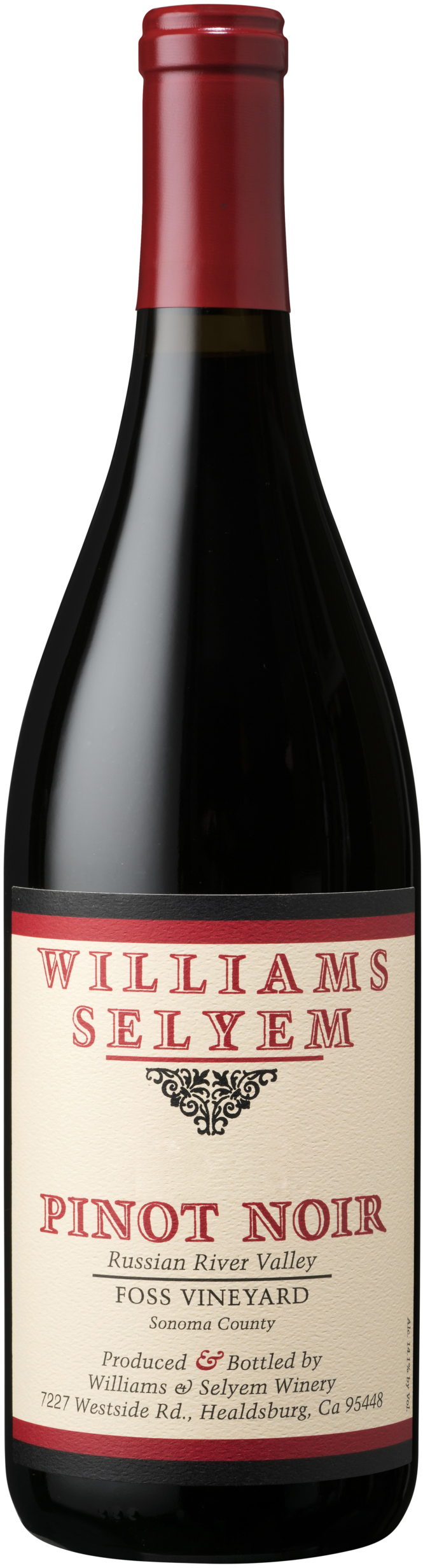 Williams Selyem - Foss Vineyard Pinot Noir Russian River Valley 2012 12x 75cl Bottles