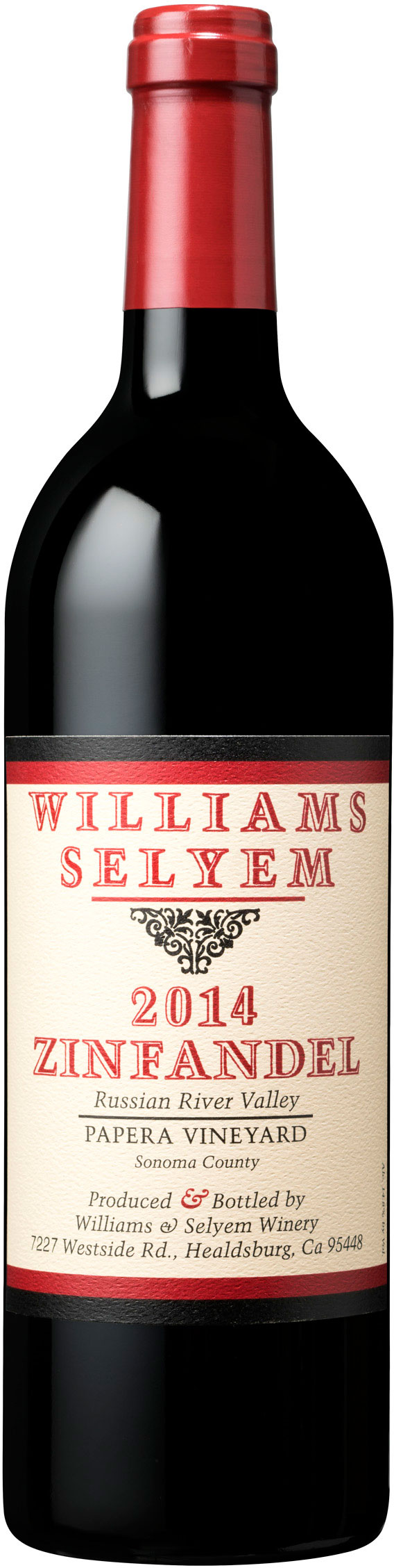 Williams Selyem - Papera Vineyard Zinfandel Russian River Valley 2014 12x 75cl Bottles
