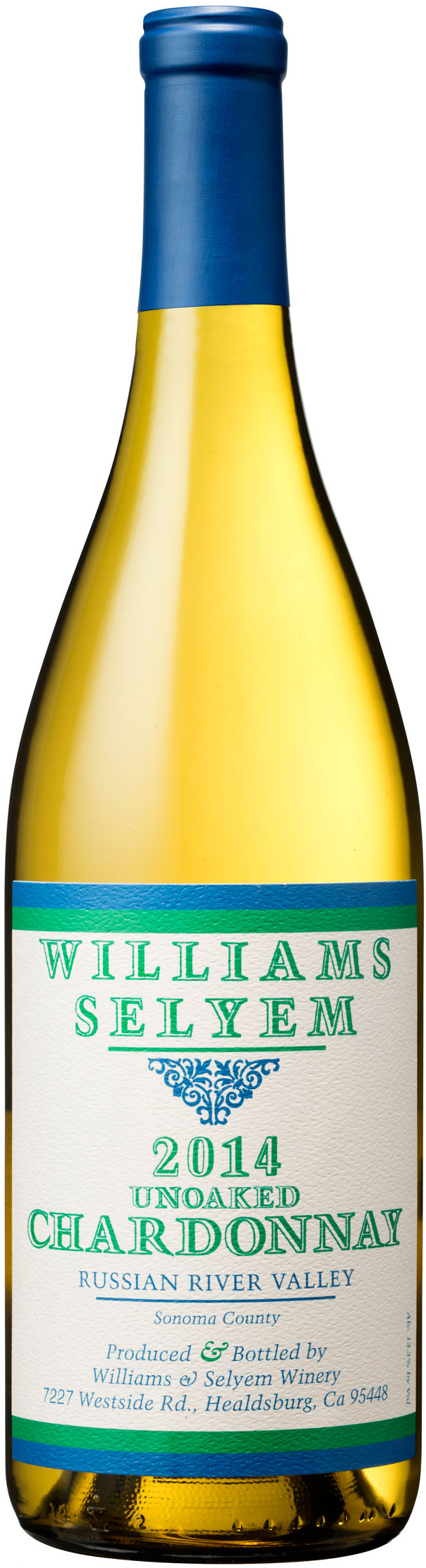 Williams Selyem - Unoaked Chardonnay 2014 12x 75cl Bottles