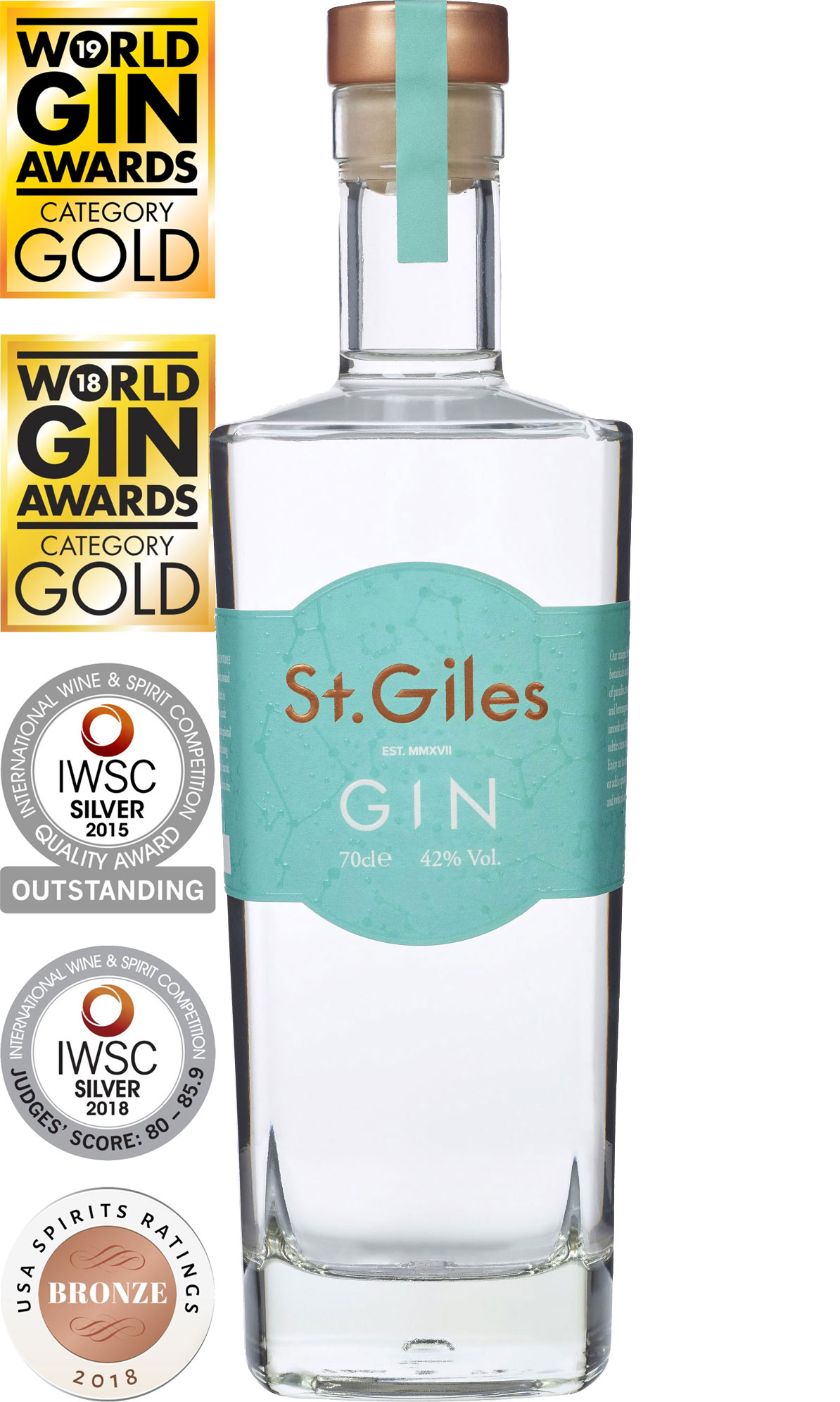 St. Giles - Signature Gin 70cl Bottle