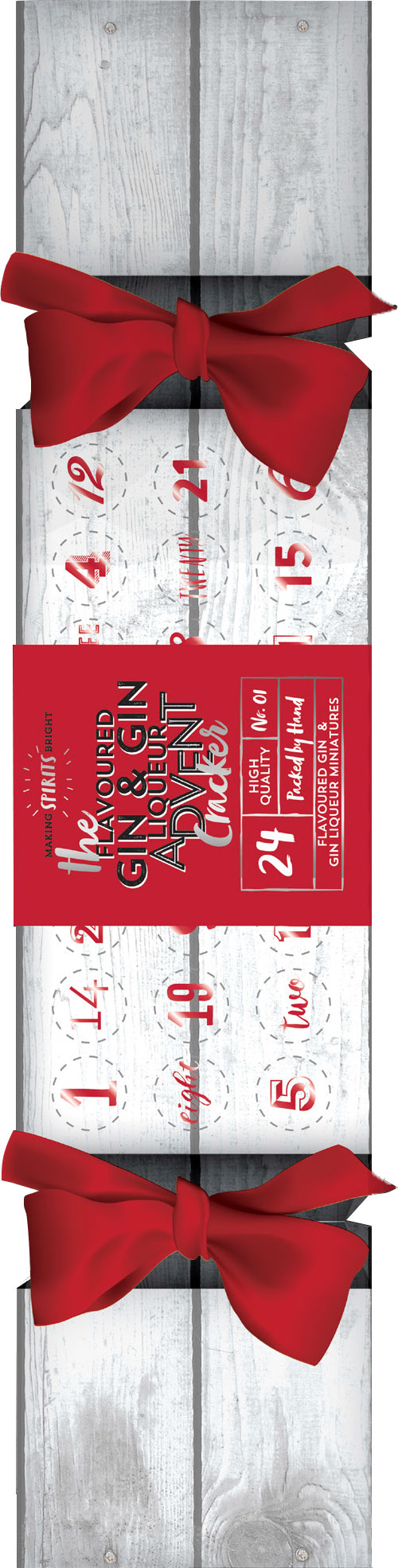 Make Spirits Bright - Flavoured Gin & Gin Liqueur Advent Calendar 24x 5cl Miniatures