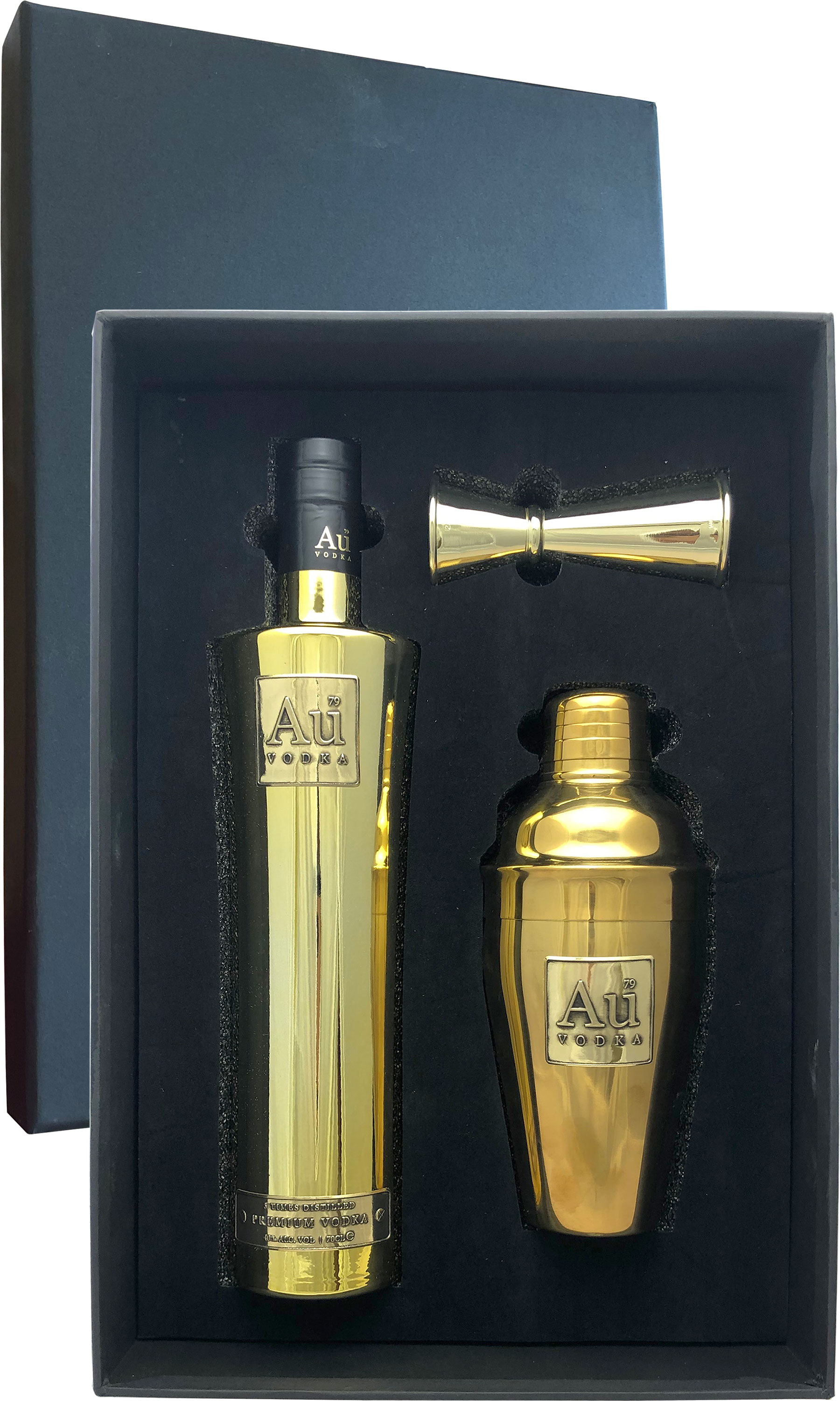 AU British Vodka Gift Pack 70cl Bottle