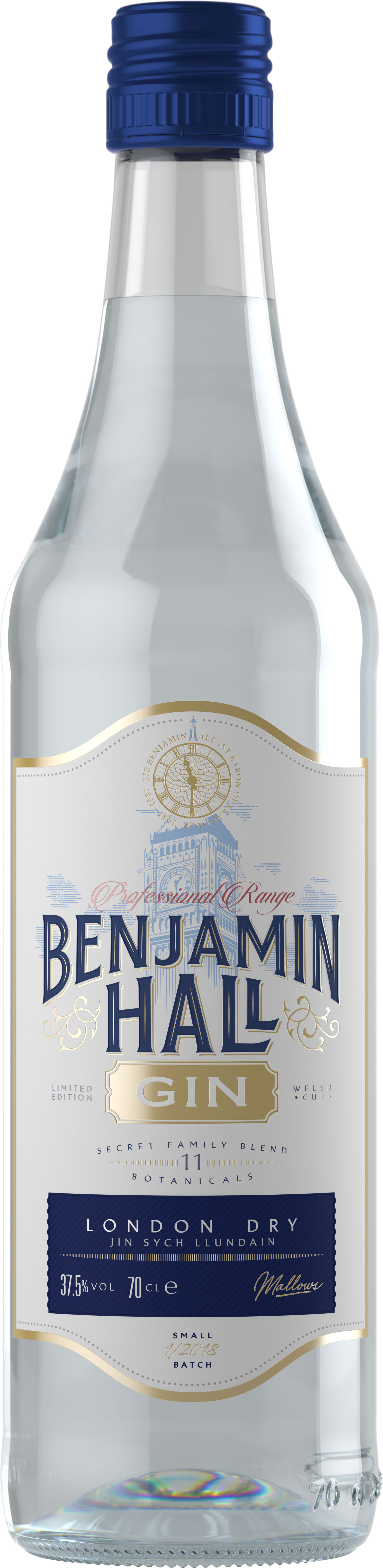 Benjamin Hall - London Dry Gin 70cl Bottle