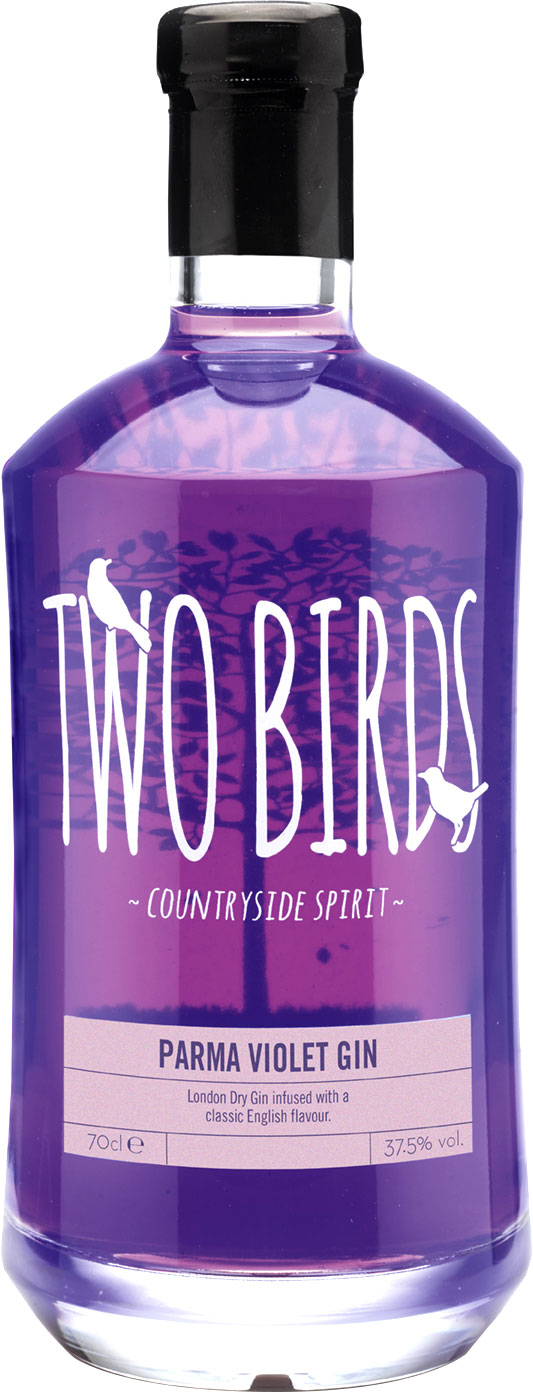 Two Birds - Parma Violet Gin 70cl Bottle