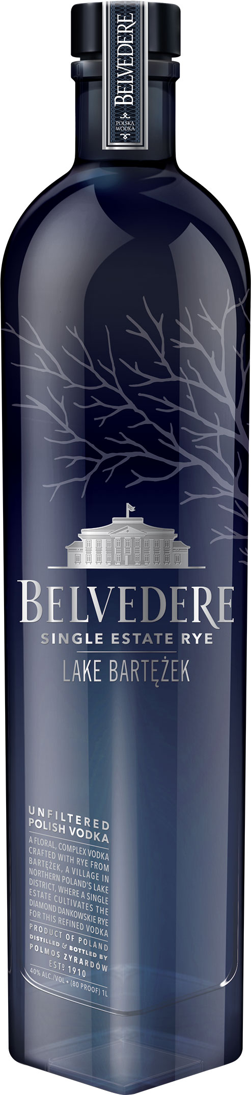 Belvedere Single Estate - Lake Bartezek Rye Vodka 70cl Bottle